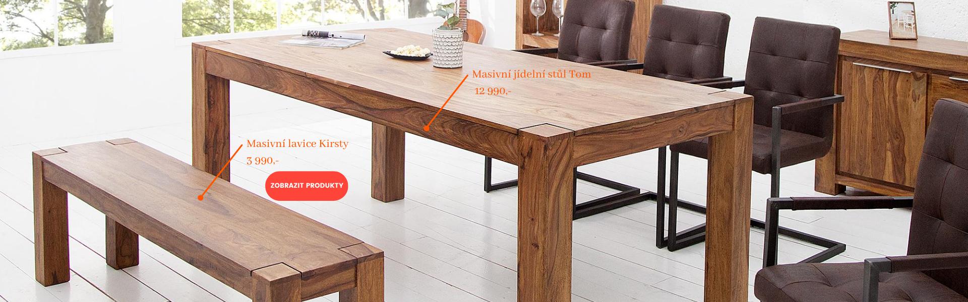 Jídelní lavice + stůl