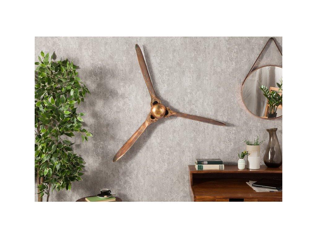 Dekorativní vrtulový šroub Lewis, 90cm měděný 01