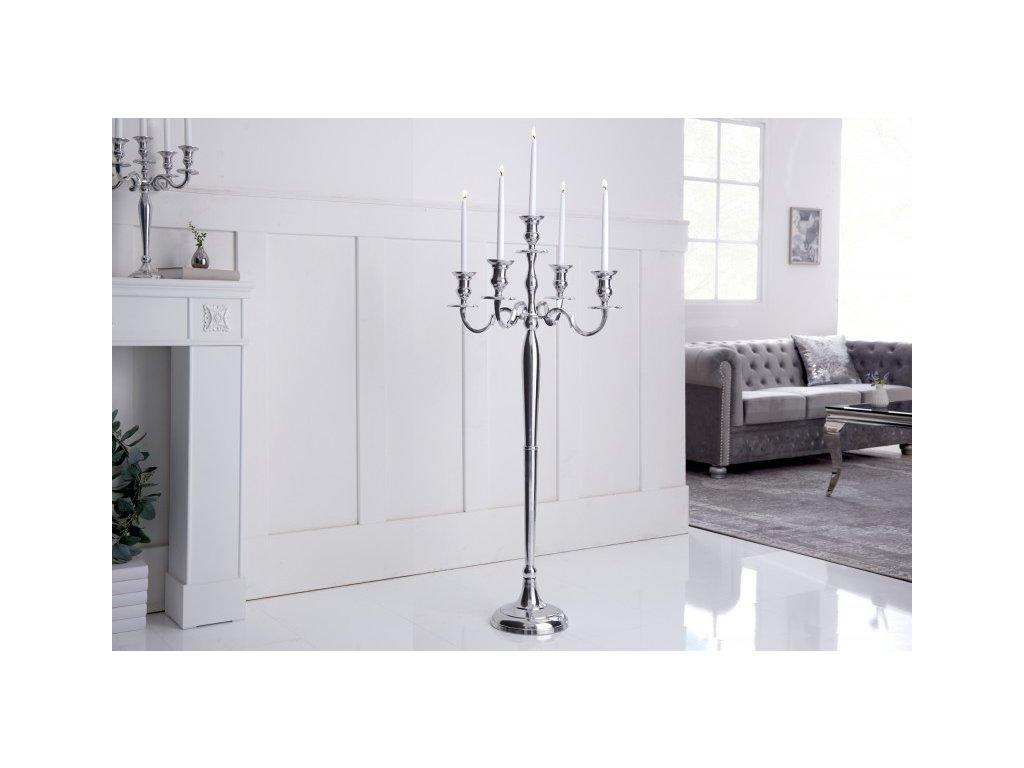 Designový svícen Oli, 120cm stříbrný 01