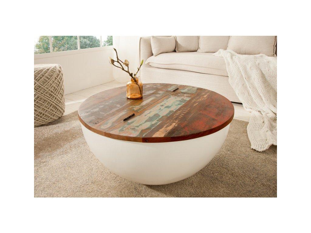 Luxusní konferenční stolek Chad, bílý 01