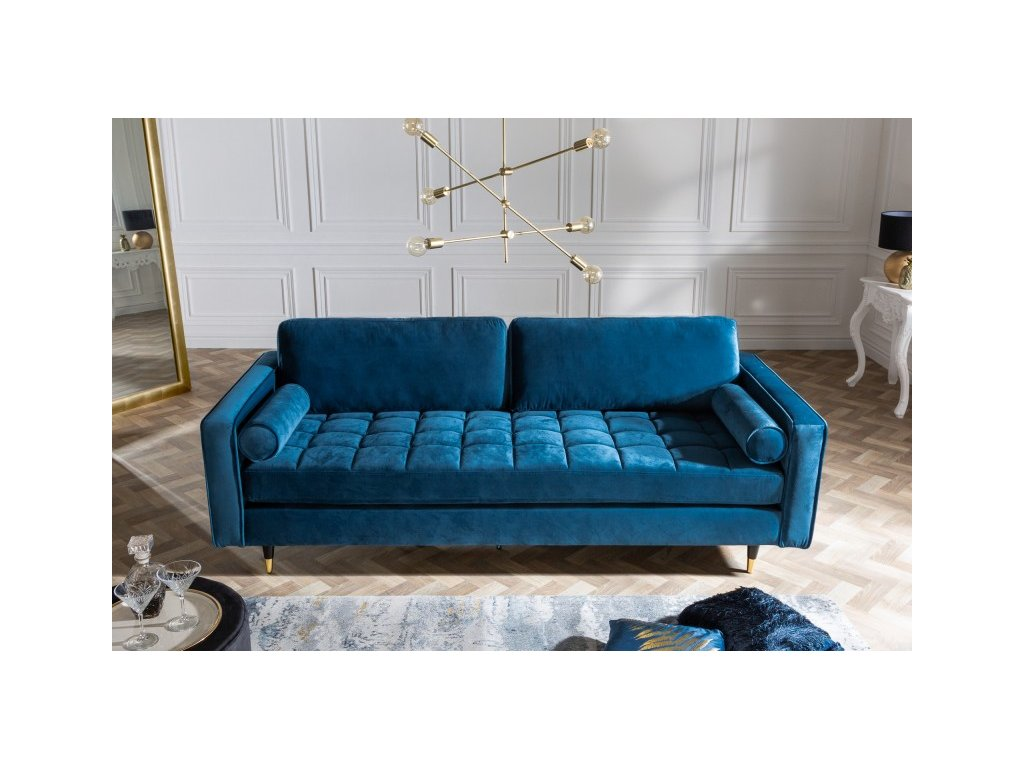 Designová pohovka Lisa, modrá 01
