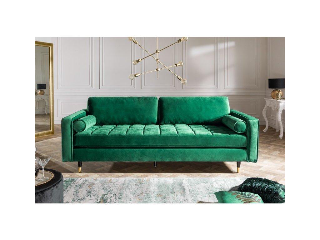 Designová pohovka Lisa, zelená 01
