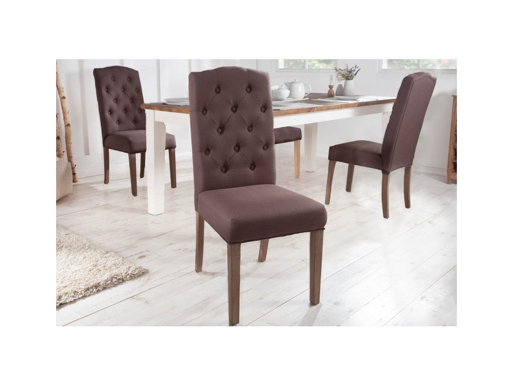 Jídelní židle Jenny, hnědá 01