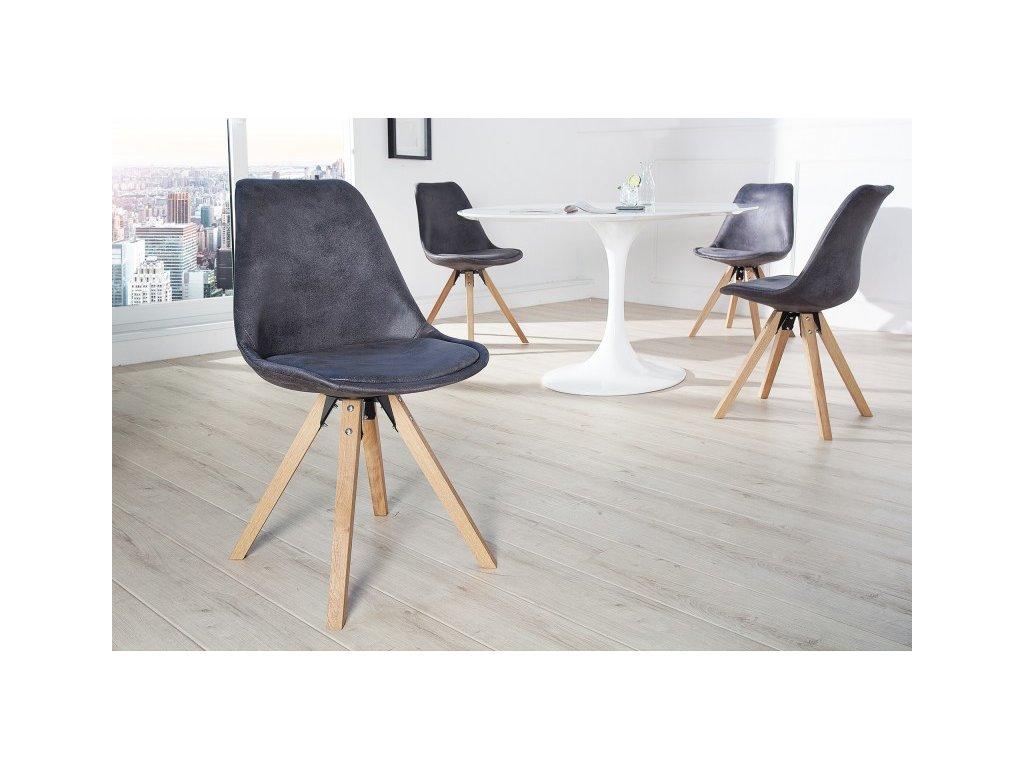Designová jídelní židle Sara, černá L 01
