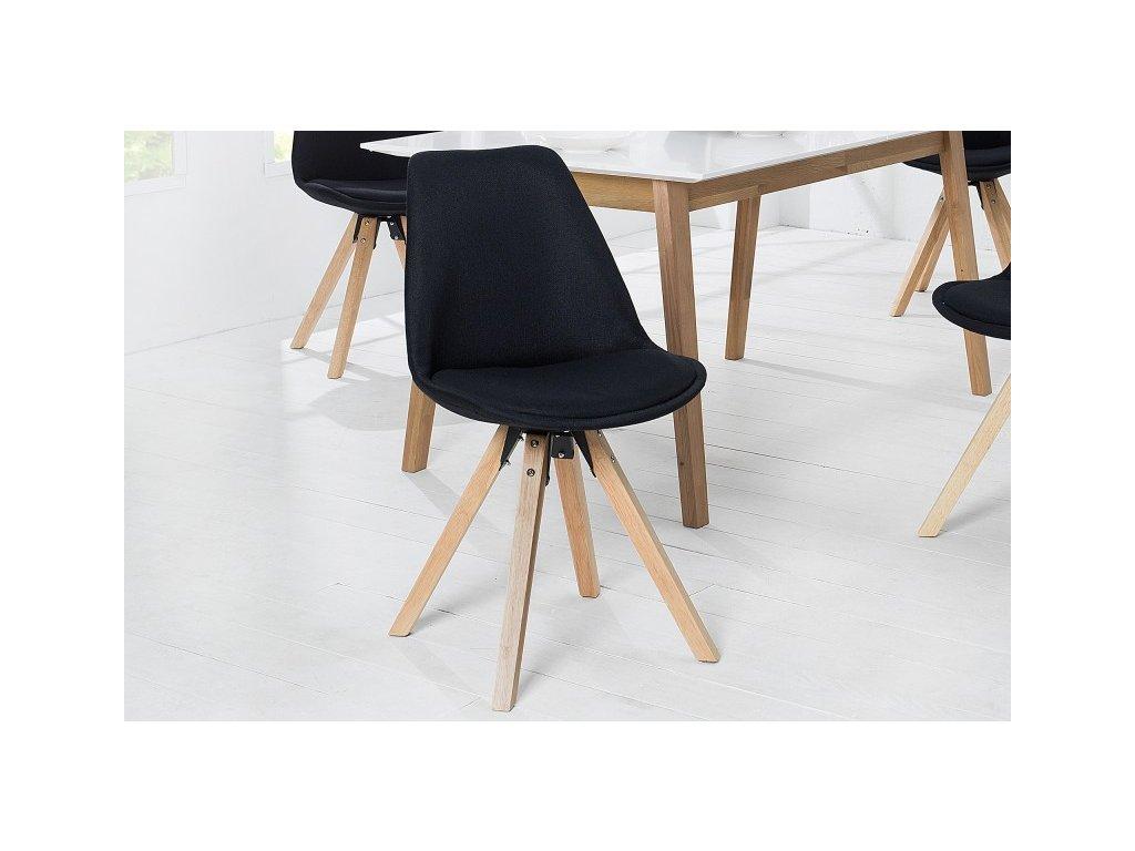 Designová jídelní židle Sara, černá M 01