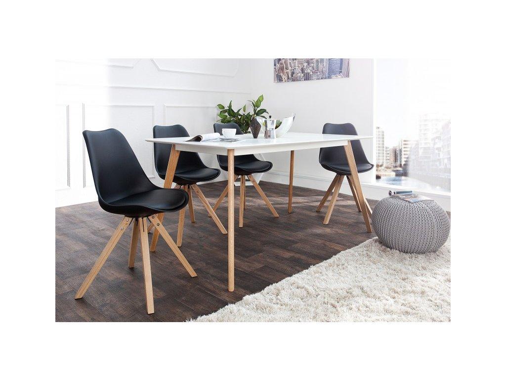 Kožená jídelní židle Sara, černá L 01