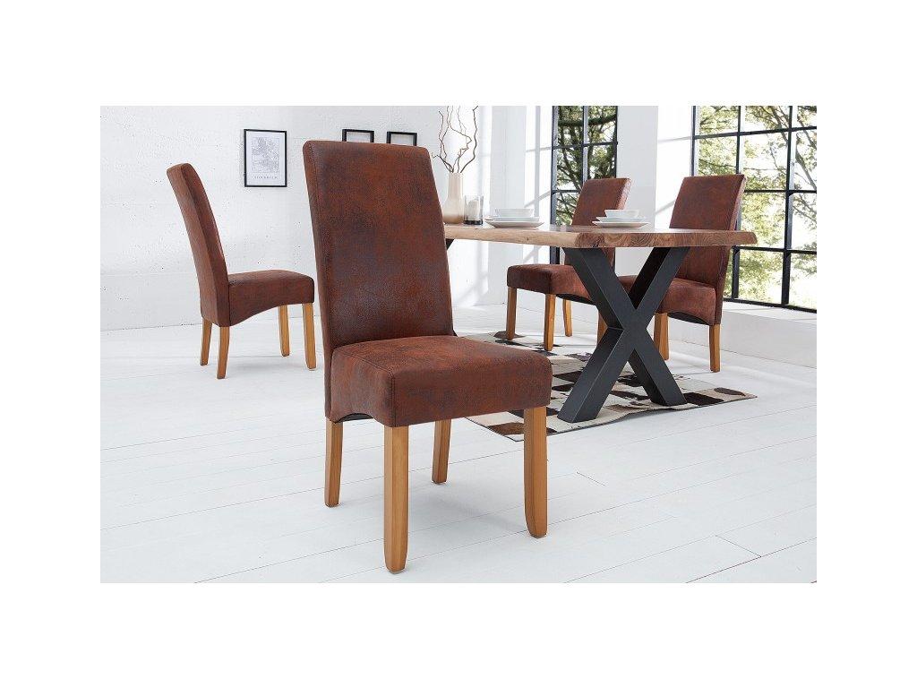 Jídelní židle Amelia, hnědá 01