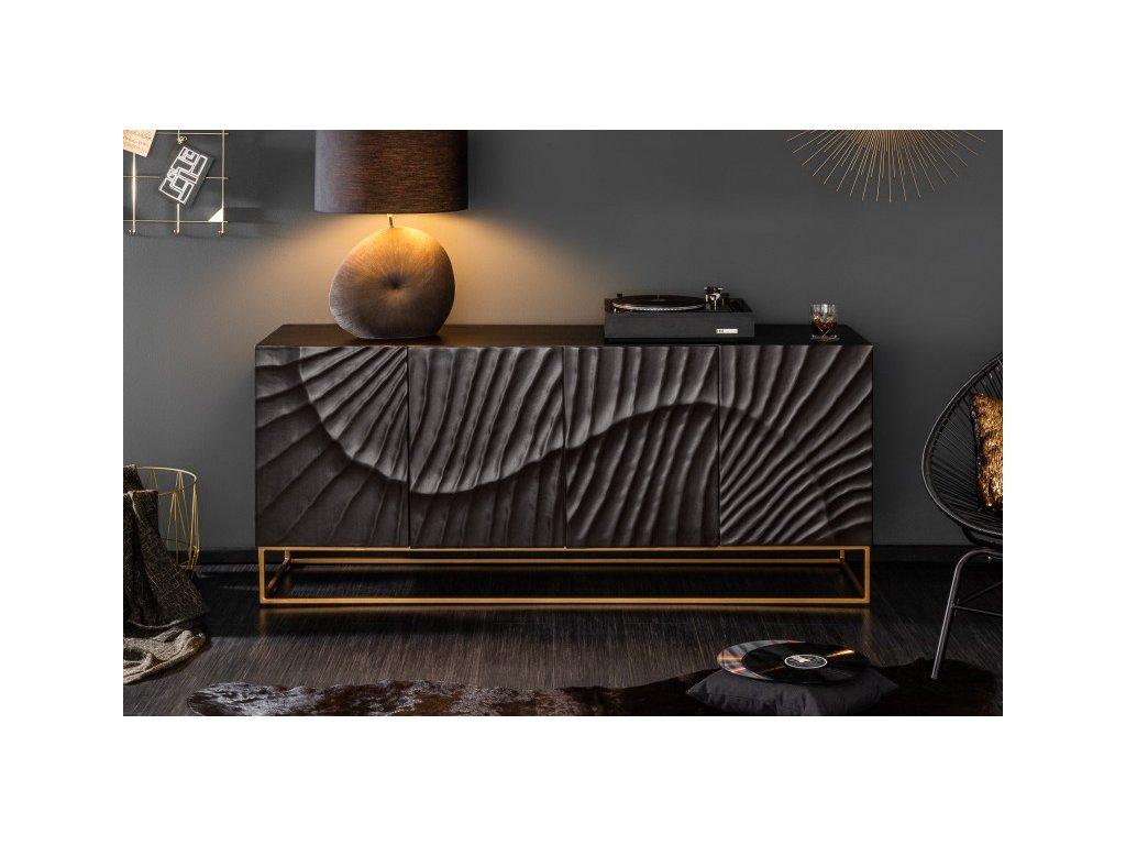 Luxusní komoda Anisha, černá 01