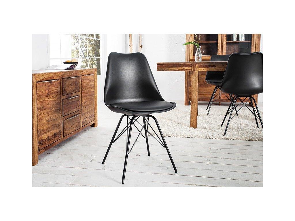 Jídelní židle Claudia, černá 01