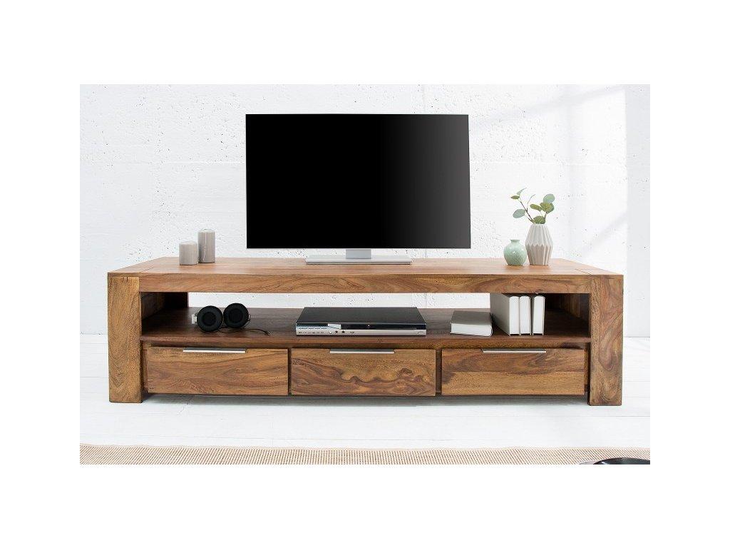 Masivní TV stolek Alphonse, tmavý 01