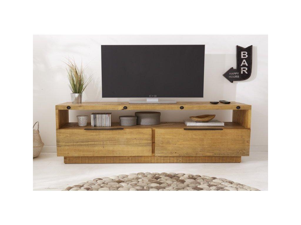 Designový TV stolek Beatrice, hnědý 01