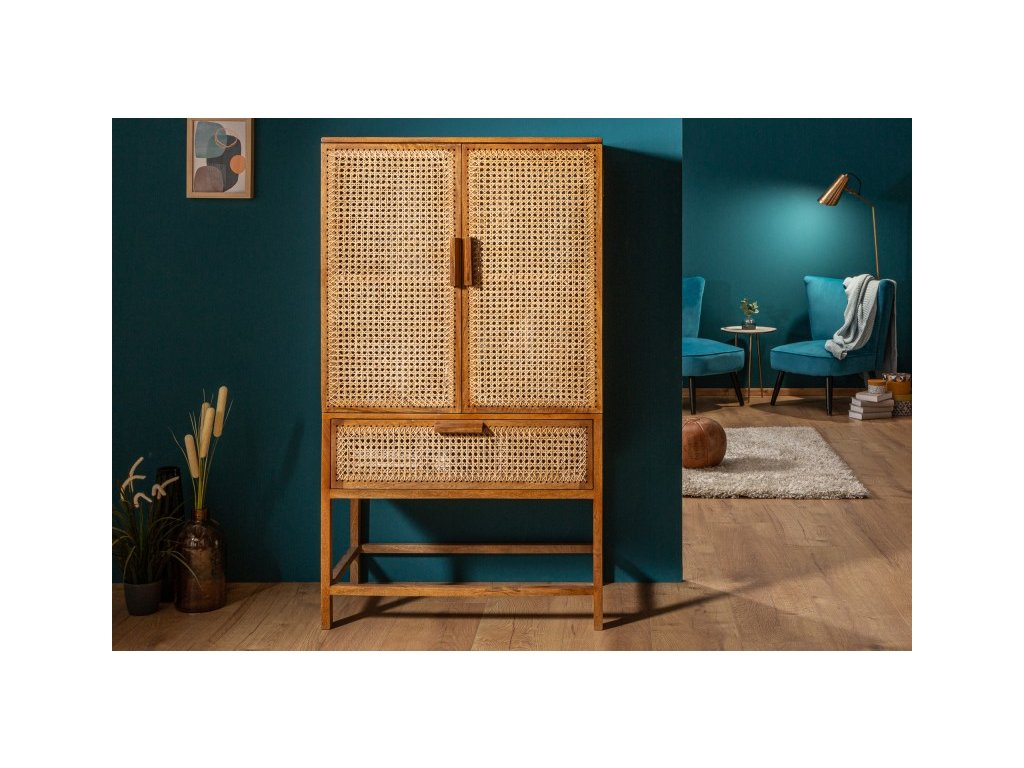 Bambusová komoda Una, 140cm 01