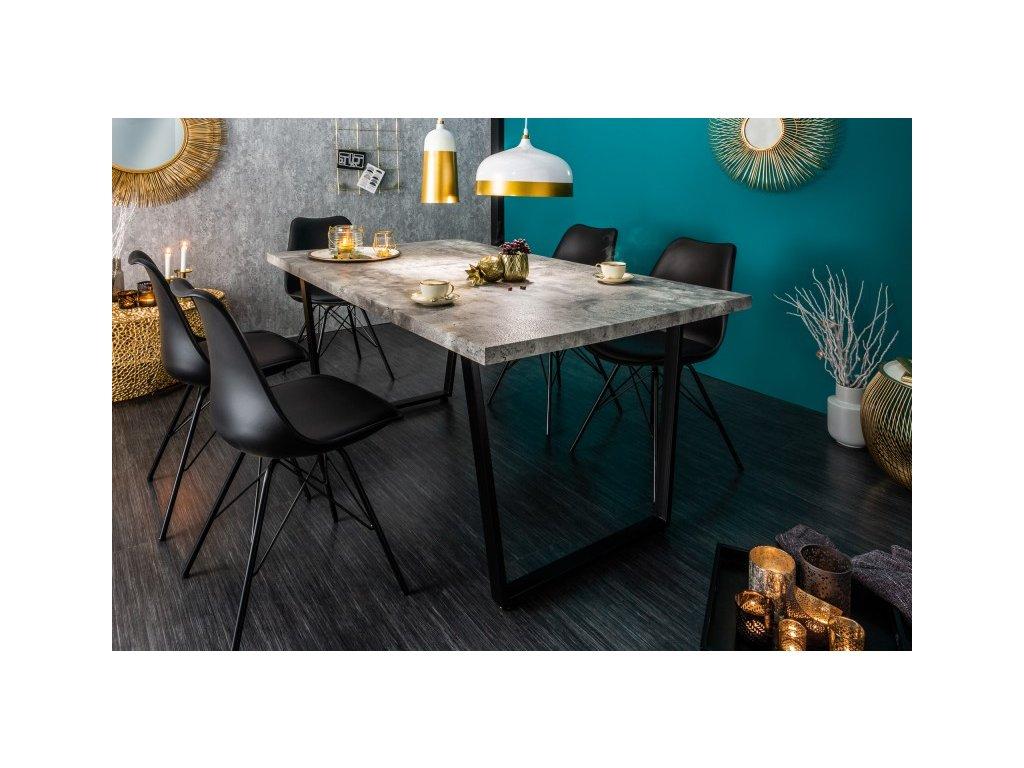 Designový jídelní stůl Walter, šedý 160cm 01