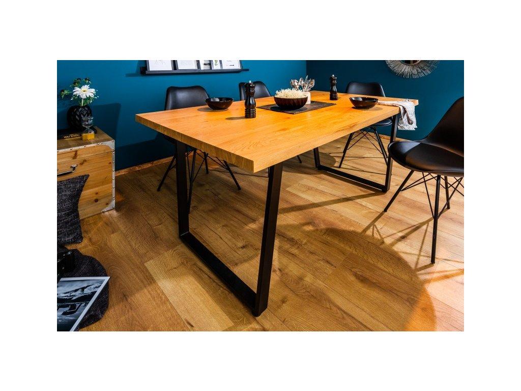 Designový jídelní stůl Walter, hnědý 160cm 01