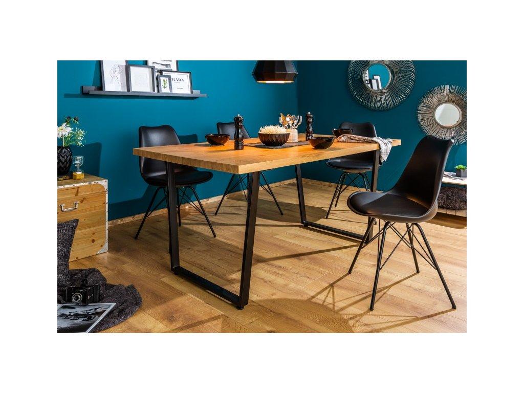 Designový jídelní stůl Walter, hnědý 140cm 01
