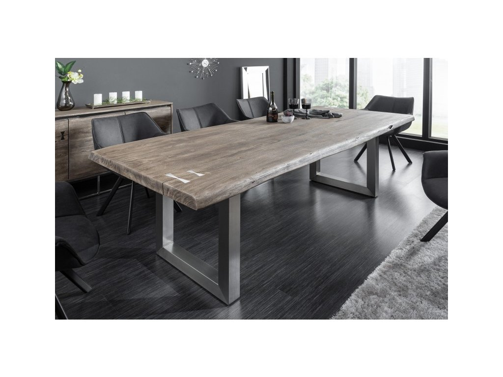 Designový jídelní stůl Tobias, šedý 240cm 01