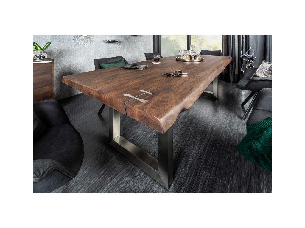 Designový jídelní stůl Tobias, hnědý 200cm 01