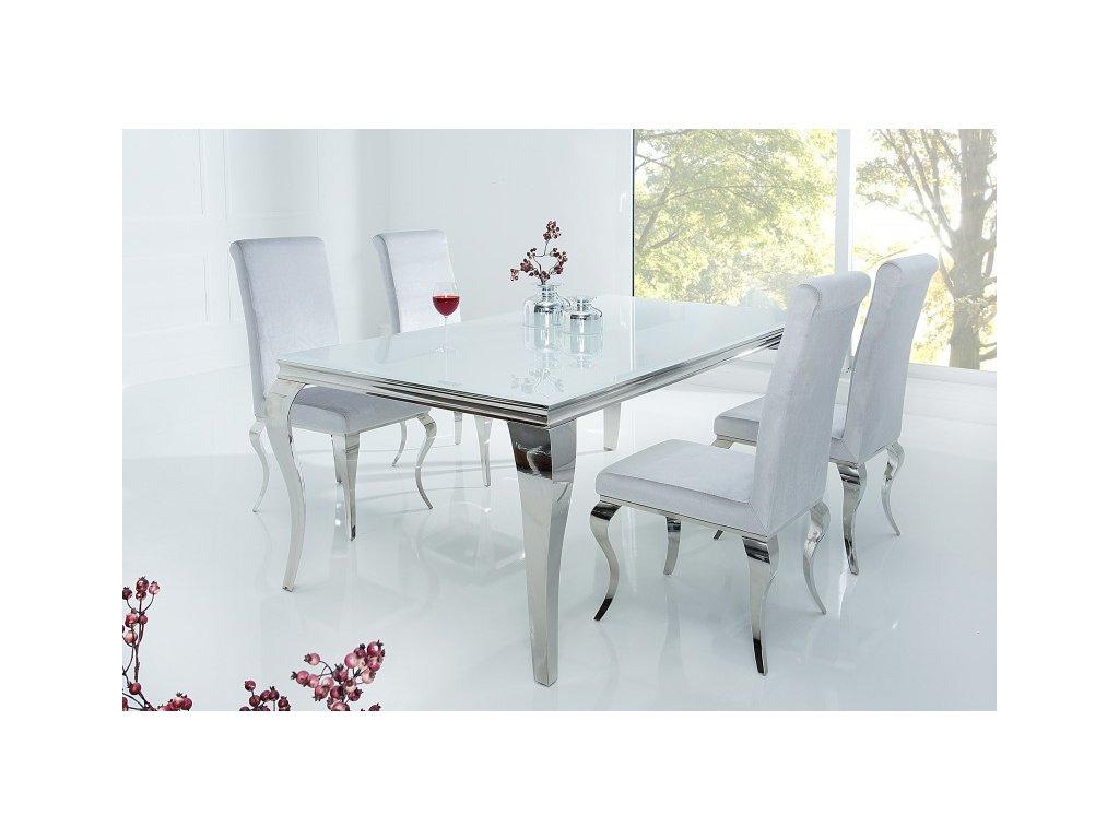Barokní jídelní stůl Dylan, bílý 180cm 01