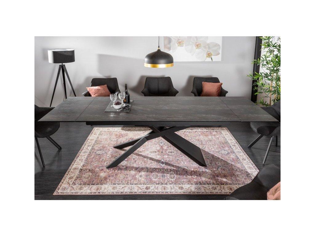 Rozkládací jídelní stůl Basil, láva 01