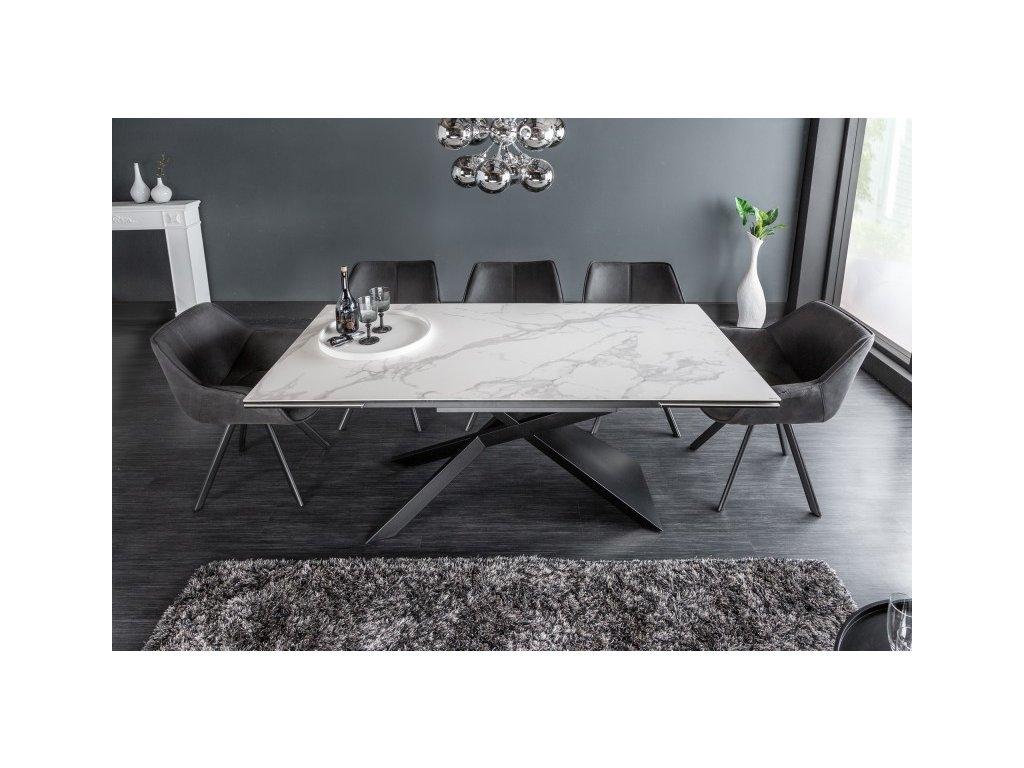 Rozkládací jídelní stůl Basil, mramor 01