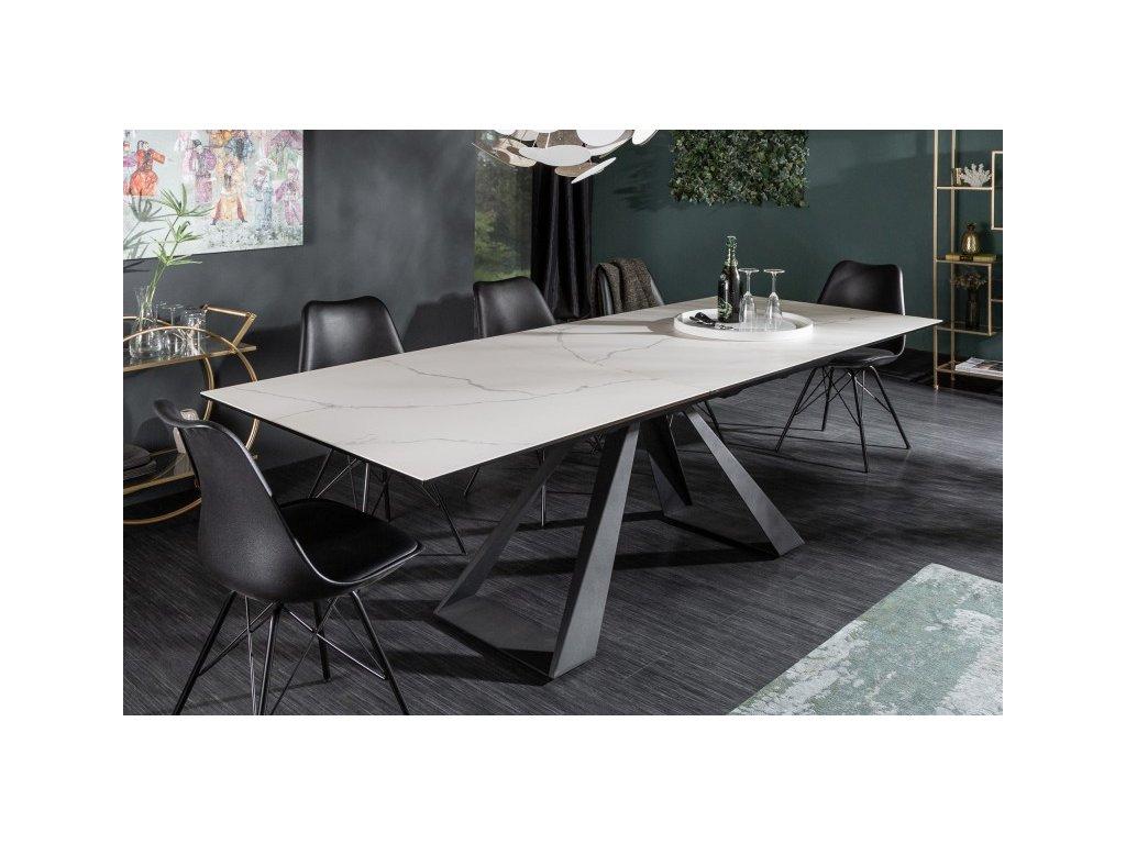 Rozkládací jídelní stůl Benedict, mramor střední 01