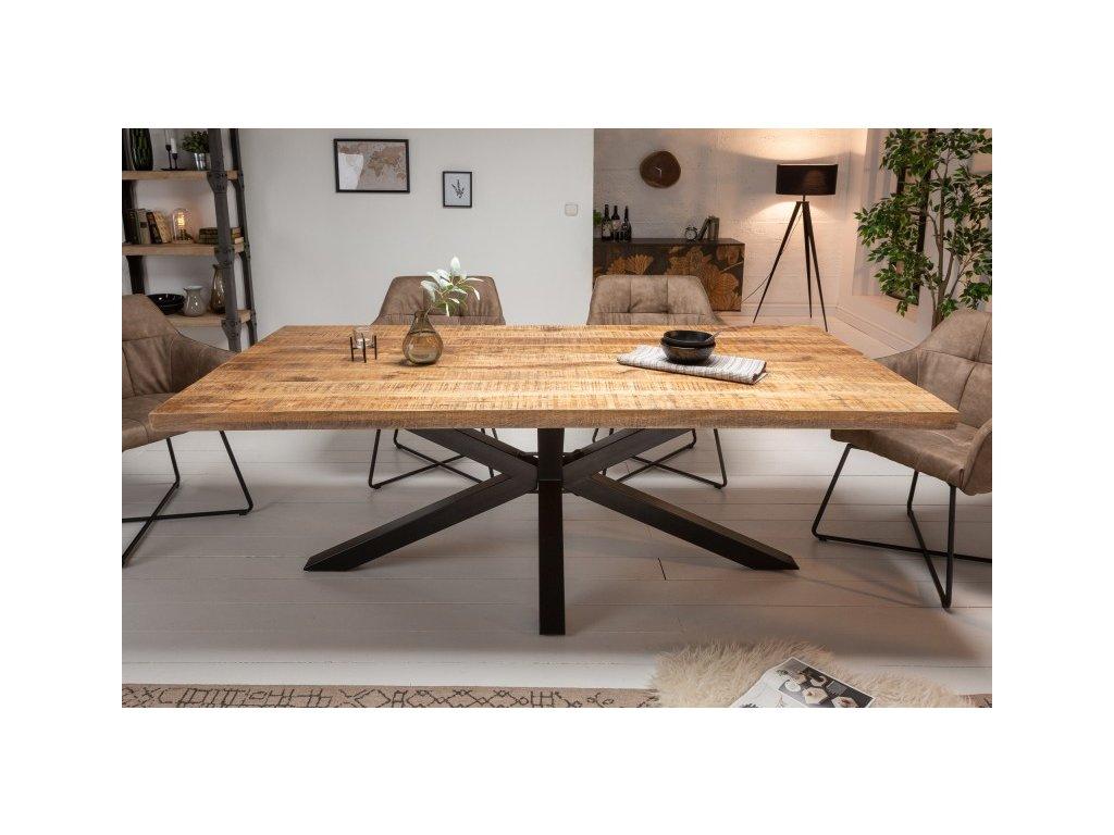 Masivní jídelní stůl Bernard, 180cm světle hnědý 01