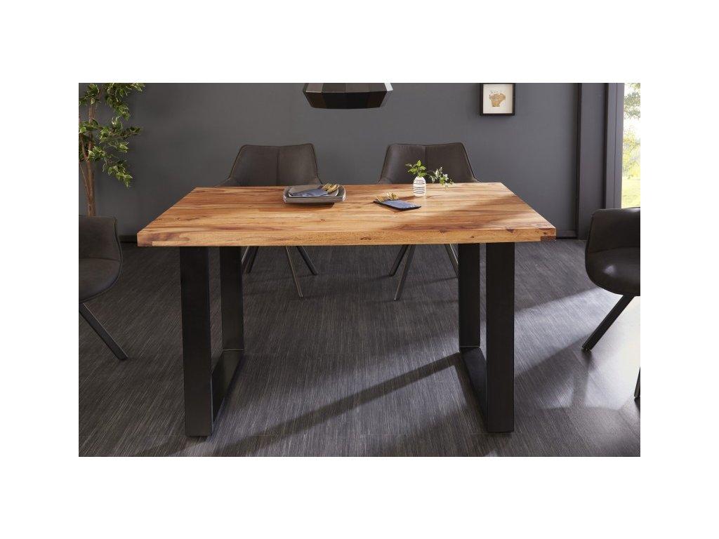 Luxusní jídelní stůl Blake, sheesham 120cm 01