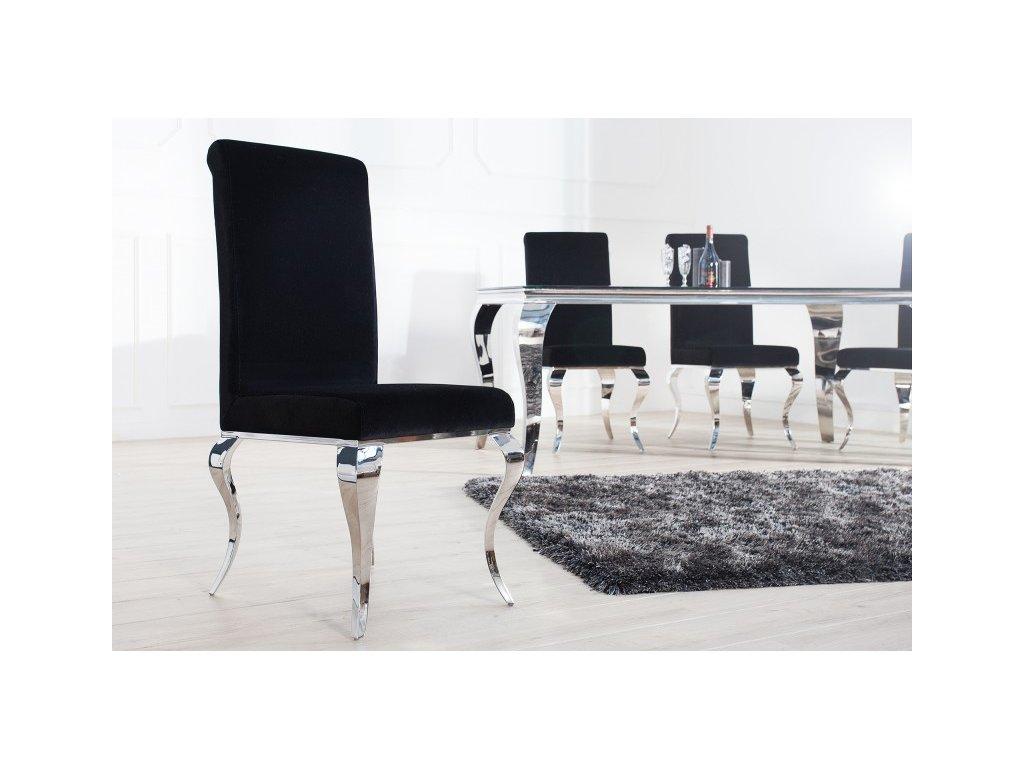 Barokní jídelní židle Andrea, černá 01