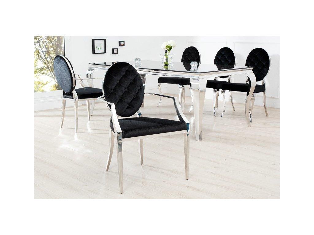 Barokní jídelní židle Anita 2, černá 01