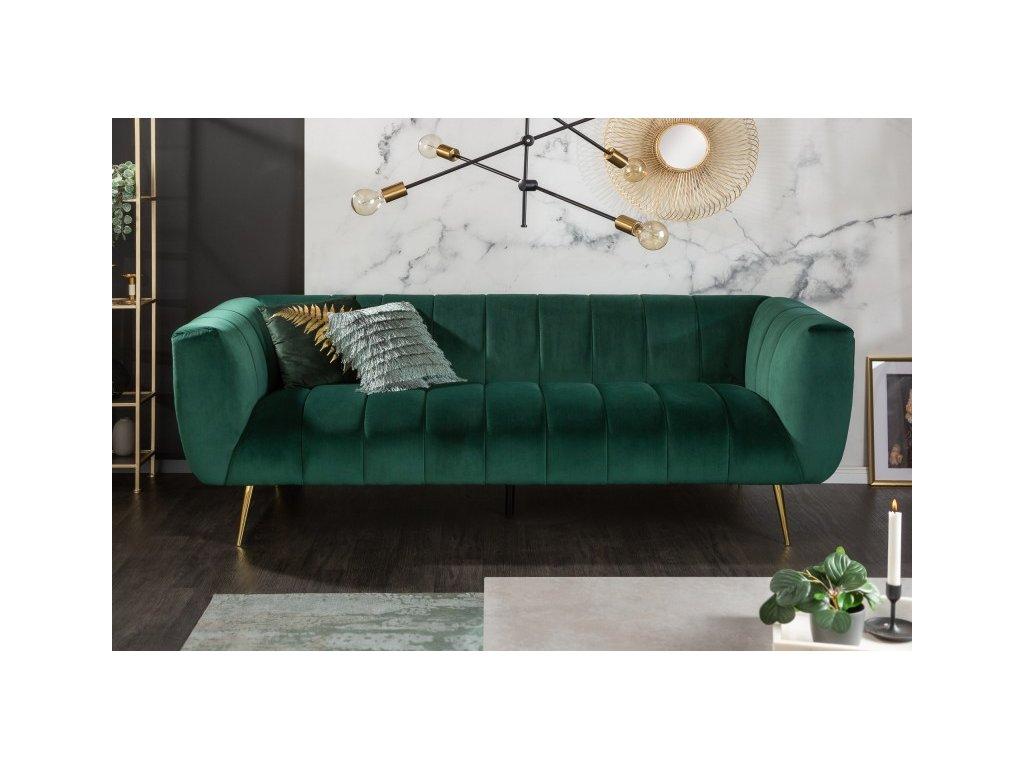 Luxusní pohovka Bunny, zelená 01