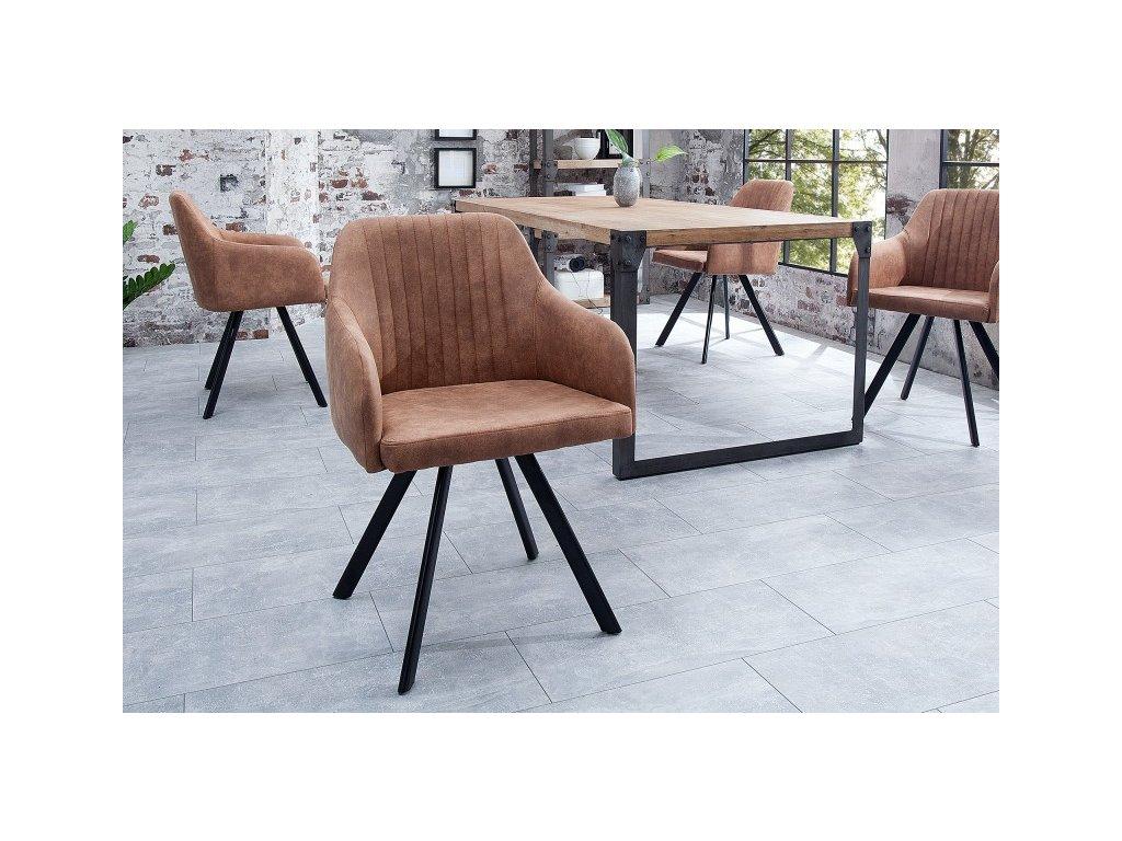 Jídelní židle Cari, hnědá 01
