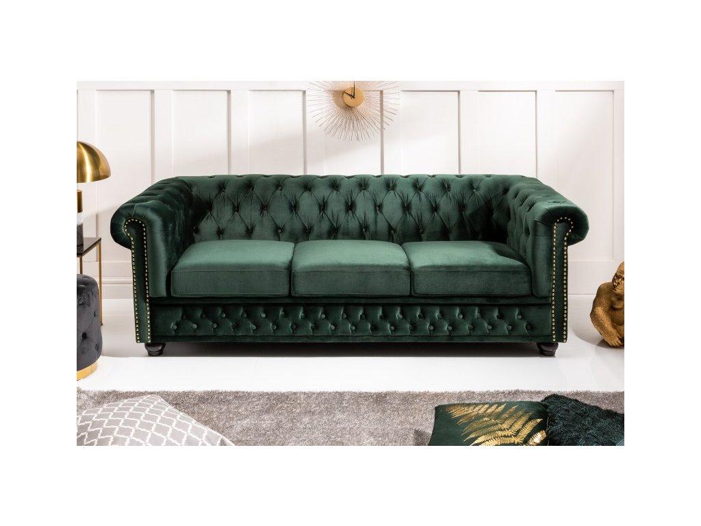 Luxusní pohovka Cecilia, zelená 01