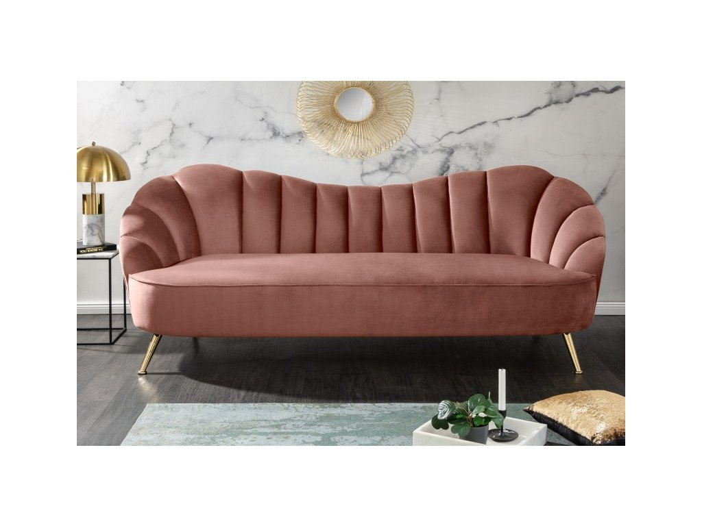 Designová pohovka Dana, růžová 01