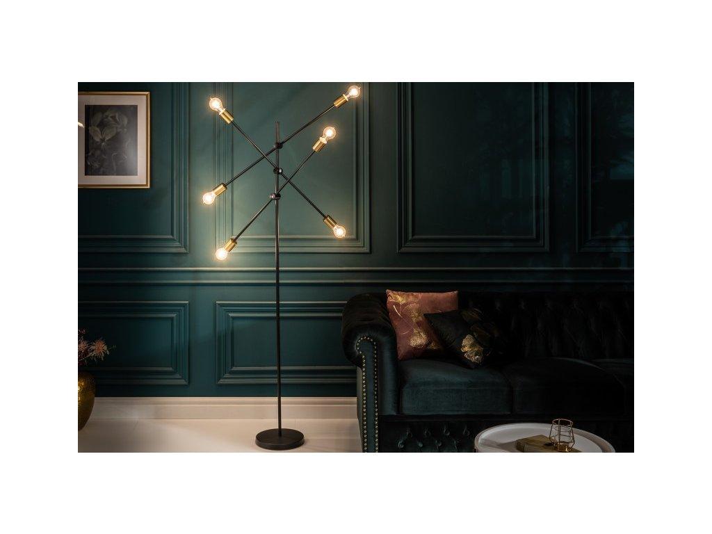 Luxusní stojací lampa Deborah, černá 01