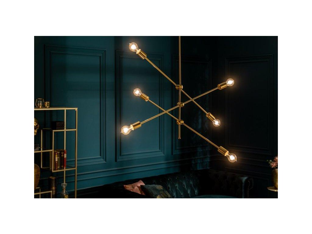 Luxusní lustr Deborah, zlatý 01