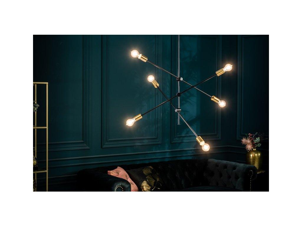 Luxusní lustr Deborah, černý 01