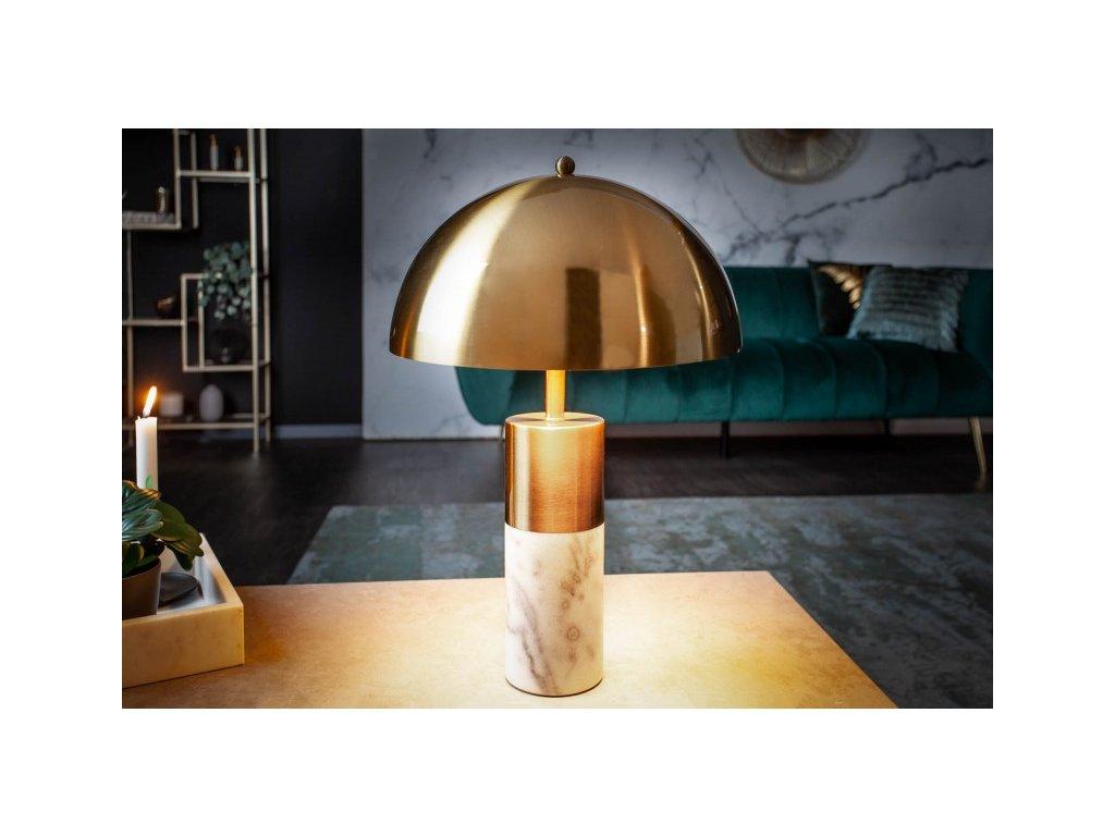 Designová stolní lampa Debbie, zlatý mramor 01