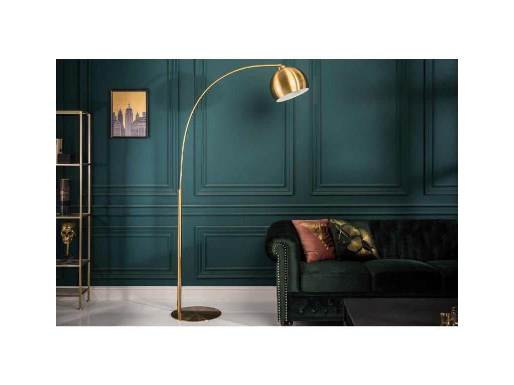 Luxusní stojací lampa Dianne, zlatá 01