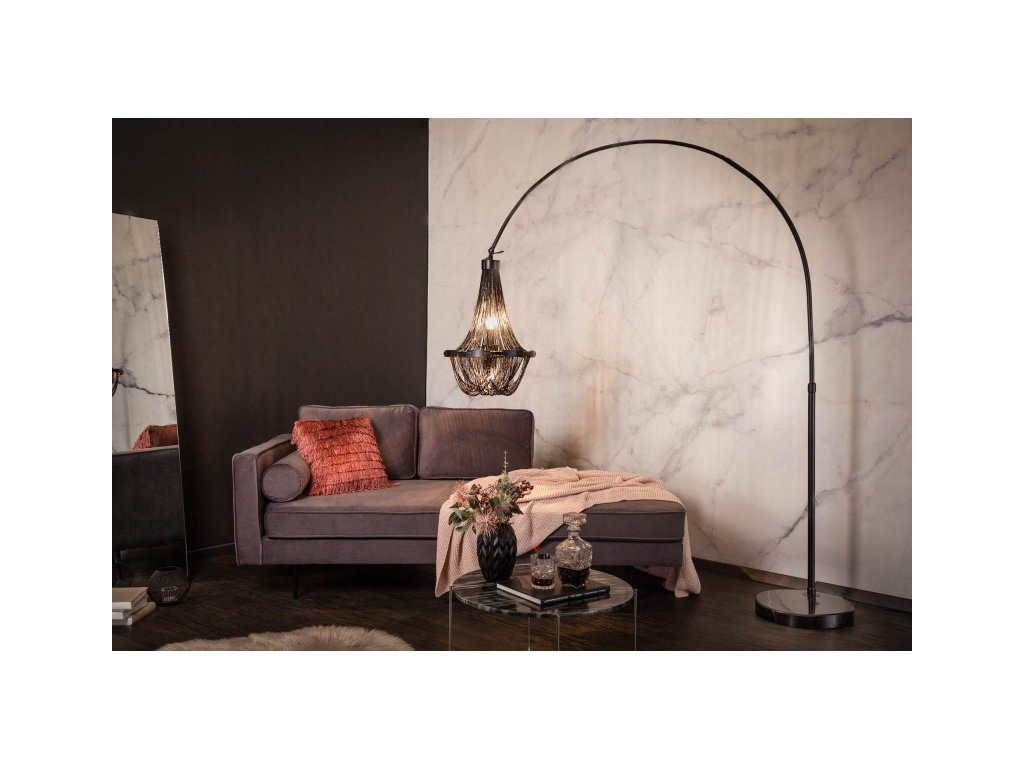 Luxusní stojací lampa Dorothy, černá 01