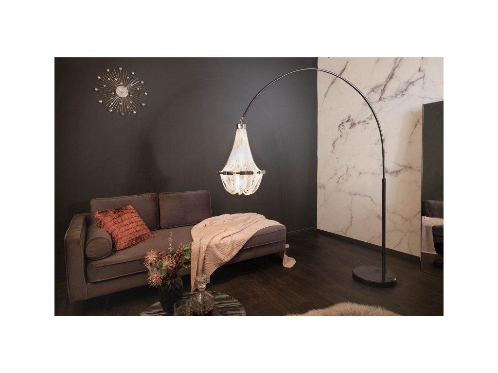 Luxusní stojací lampa Dorothy, stříbrná 01