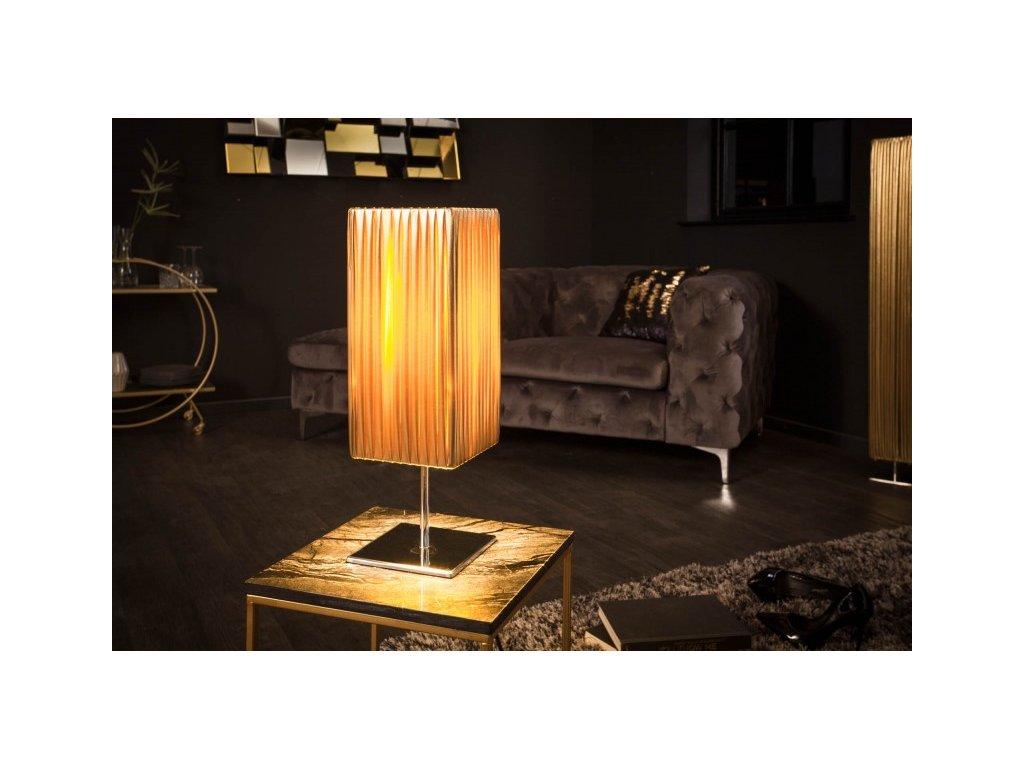 Luxusní stolní lampa Elise, zlatá 01
