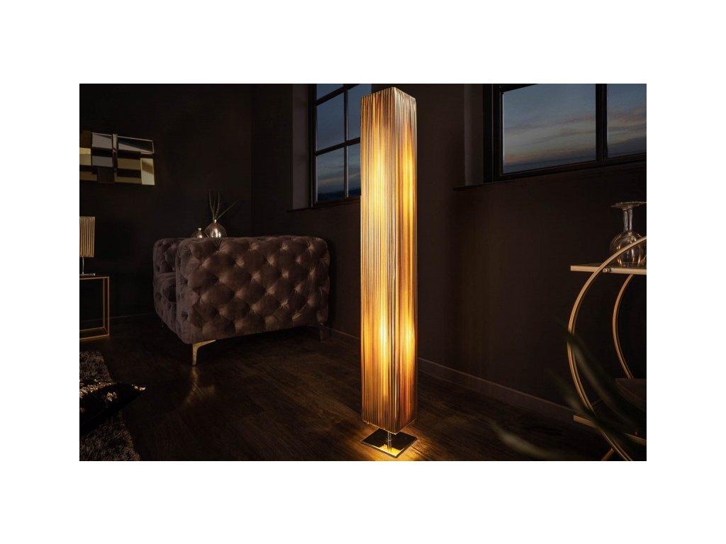 Luxusní stojací lampa Elise, zlatá 01