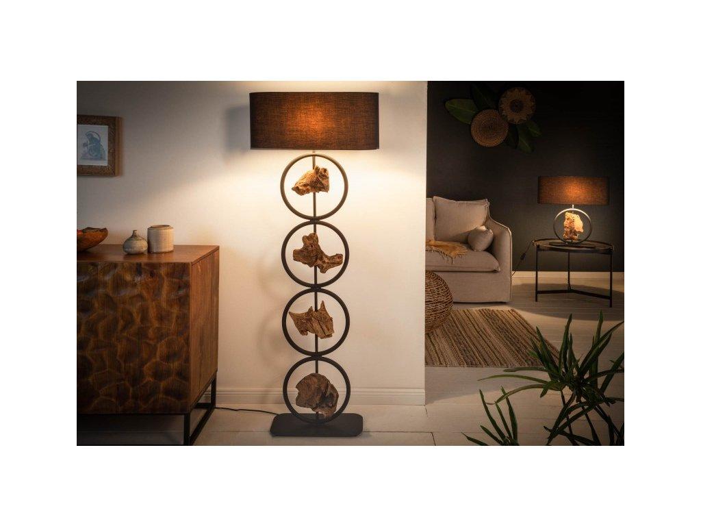 Designová stojací lampa Elspeth, 147cm 01