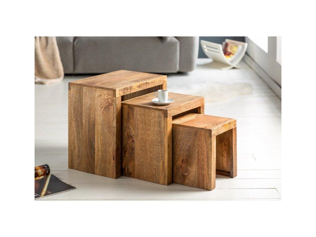 Designový konferenční stolek Brendan, mango 01