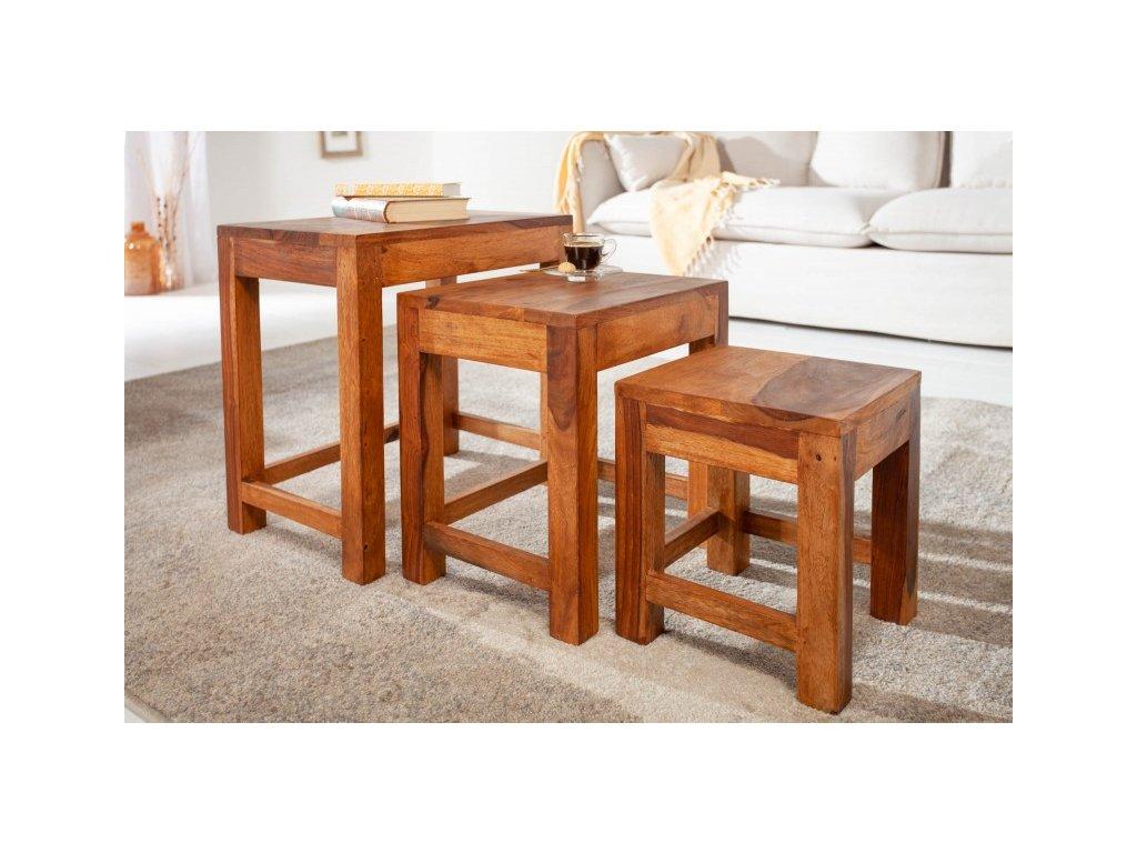 Designový konferenční stolek Broderick, sheesham 01