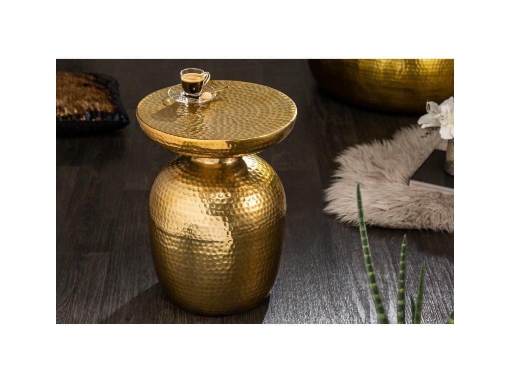 Luxusní konferenční stolek Carter, zlatý 01