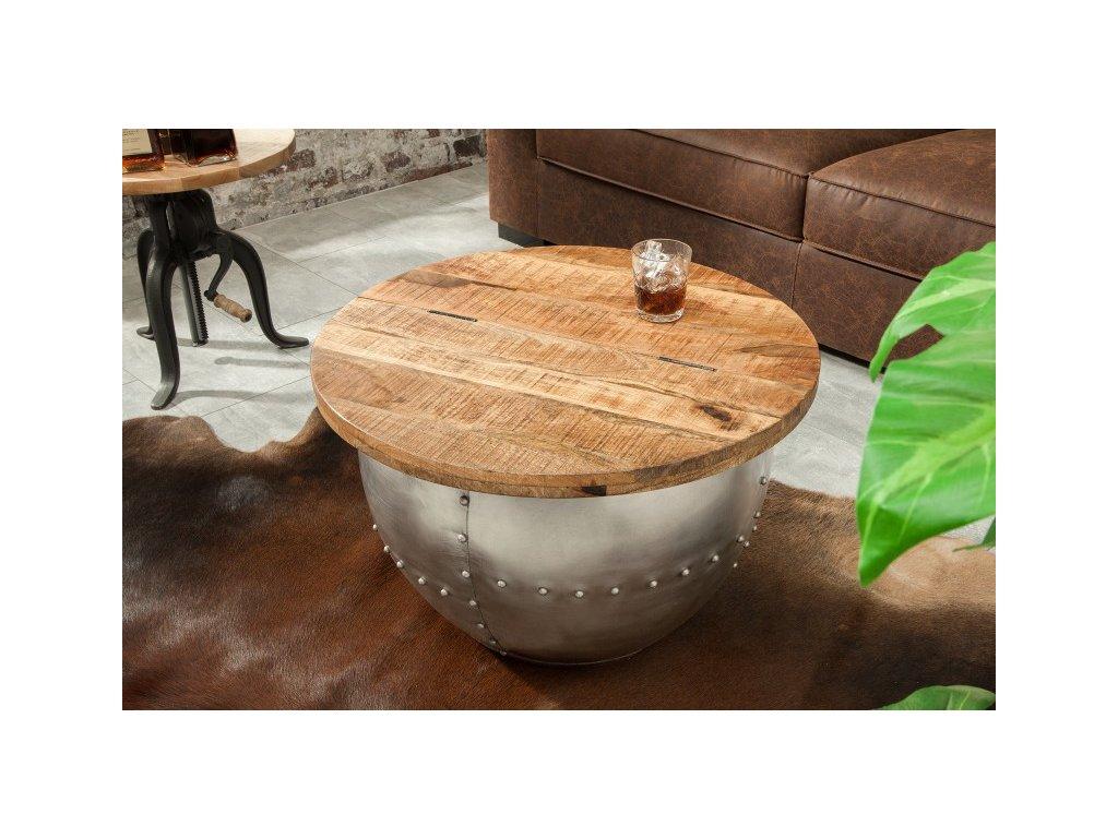 Designový konferenční stolek Caspar, přírodní 01