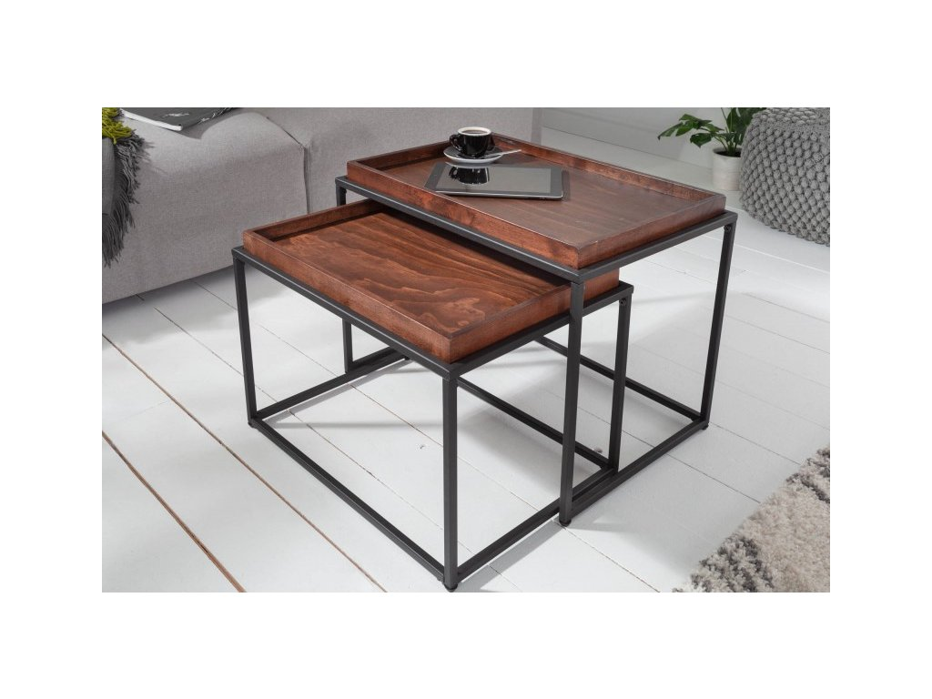 Designový konferenční stolek Colin, tmavý 01