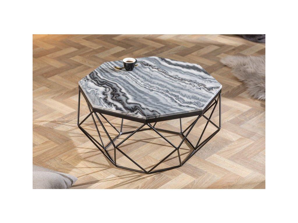 Designový konferenční stolek Conrad, šedý 01