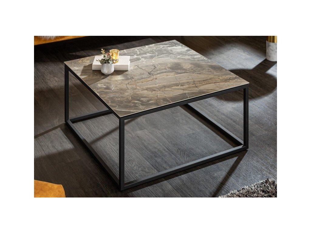 Designový konferenční stolek Deuce, mramorový vzhled 01